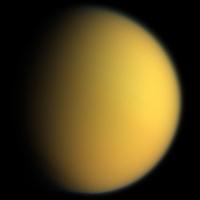 Titan vu par la sonde Cassini.