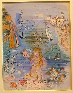 """Raoul Dufy, """"L'Amphitrite dans le Port de Marseille"""", 1925-1930, aquarelle sur papier, 67 X 50 cm, collection particulière, France"""