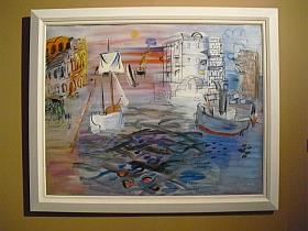 """Raoul Dufy, """"Port aux voiliers, Hommage à Claude Lorrain, C.1935"""", huile sur toile, 89 X 113 cm"""