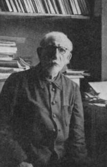 Charles Maurras à Clairvaux, où il resta durant les cinq dernières années de sa vie (1947-52)