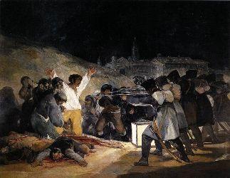 Les fusillades du 3 mai 1808 (1814).«J'ai toujours eu l'impression d'un tableau envoûté» confie André Malraux à propos de cette oeuvre.