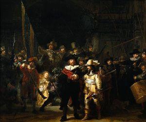 En 1642, Rembrandt perd sa femme Saskia alors qu'il  peint La ronde de nuit