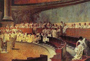 Cicéron dénonce Catilina, Cesare Maccari