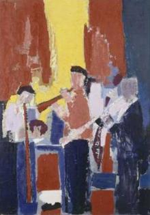 Les Musiciens, Souvenir de Sidney Béchet (1953), Dation 1982, Centre Pompidou, Paris, Musée national d'art moderne\/Centre de création industrielle