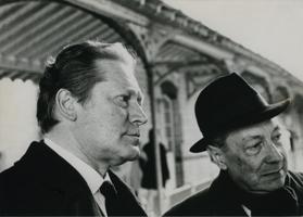Maurice Druon et Pierre Gaxotte, membres de l'Académie française