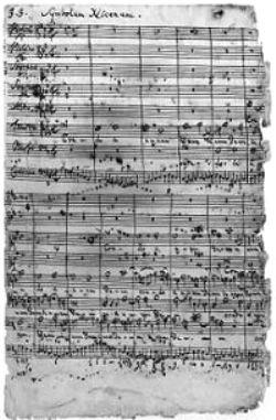 Manuscrit de la première page du Credo