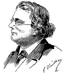 Charles Monselet. Portrait par Gaston Vuillier