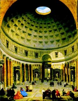 Dôme en béton du Panthéon de Rome