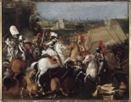 Henri IV à la bataille d'Arques (21 septembre 1589).