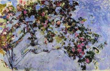 Claude Monet, Les Roses, 1925-26, huile sur toile, Paris, Musée Marmottan