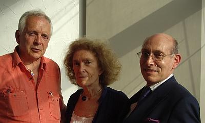 Philippe Tounaire, Mireille Delmas-Marty et Jean-Michel Ghinsberg (de gauche à droite), Canal Académie 30 juin 2010