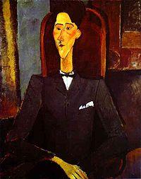 Jean Cocteau par Modigliani, 1919