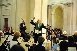 Laurent Petitgirard dirigeant l'Orchestre Colonne, Séance publique annuelle de l'Académie des beaux-arts, Institut de France, 17 novembre 2010