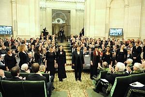 Le Chœur Britten sous la direction de Nicole Corti, Séance publique annuelle de l'Académie des beaux-arts, Institut de France, 17 novembre 2010