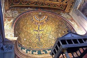 Abside de l'église Saint-Clément, à Rome