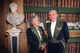 Avec Jacqueline de Romilly également membre de deux académies: Académie française et Académie des inscriptions et belles-lettres