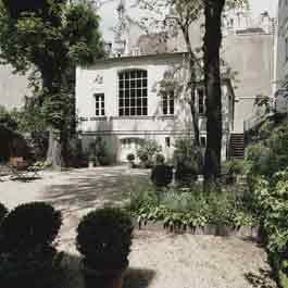 La maison de Delacroix à Paris place de Furstenberg