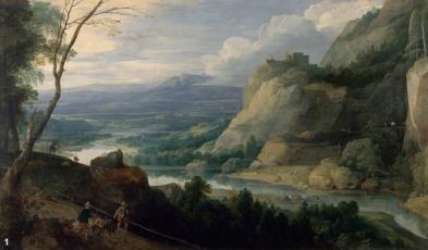 Jacques Fouquières, Paysage montagneux,1621, Huile sur toile, 118 x 199. Nantes, Musée des Beaux-Arts © RMN \/ Gérard Blot
