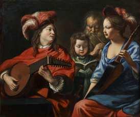 Les Frères Le Nain, Le Concert, vers 1650, Musée municipal d'Art et d'Archéologie de Laon, Aisne © Studio Sébert Photographes