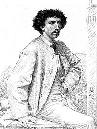 Portrait du jeune lauréat, Charles Garnier