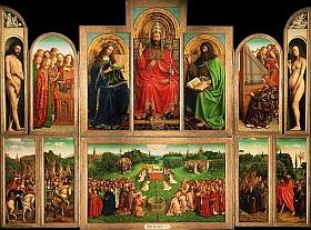 Jan van Eyck (ca. 1390-1441) retable de l'Agneau mystique, Gand