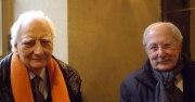 Les architectes Roger Taillibert et Claude Parent, de l'Académie des beaux-arts, le 8 décembre  2010