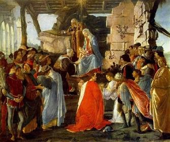 Botticelli, Adoration des  Rois mages1475-1476, Galeries des Offices, Florence