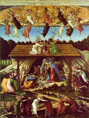 Botticelli, Nativité Mystique, 1501-1505, National Gallery, Londres