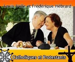 Frédérique Hébrard et Louis Velle: la protestante et le catholique...