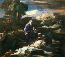 Louis Cretey, Tobie enterrant les morts, Paris, collection particulière