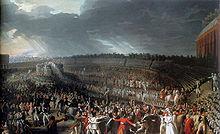 La fête de la Fédération, le 14 juillet 1790