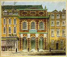 Le Queen's Theatre du Haymarket à Londres. La plupart des opéras de Haendel y furent représentés