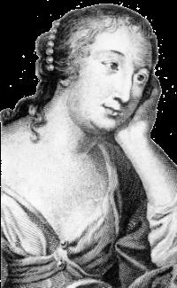 Mmede Lafayette (1634-1693). «Tout en elle nous attire, la rare distinction de son esprit, la ferme droiture de ses sentiments, et surtout, peut-être, ce que nous devinons au plus profond de son cœur: une souffrance cachée qui a été la source de son génie.» Morillot