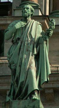 Saint Pierre avec les clefs du salut des âmes et du Paradis (Saint-Pétersbourg)