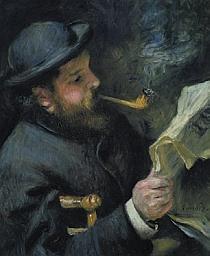 Auguste Renoir, Claude Monet lisant, 1872 – Huile sur toile, 61 x 50 cm Musée Marmottan Monet, Paris Inv. 5013a