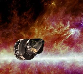Satellite Planck, vue d'artiste