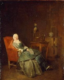 J-S. CHARDIN, Les amusements de la vie privée, Stockholm, Nationalmuseum