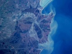 Photo satellite du delta du Danube