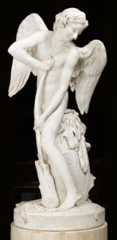 Edme Bouchardon, L'Amour refaisant un arc dans la massue d'Hercule, 1750, Paris, musée du Louvre, département des Sculptures © RMN \/ Stéphane Maréchalle