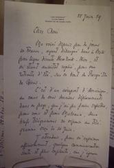 Lettre d'Alexis Léger (Saint-John Perse) à André Maurois, 1959