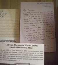 Lettre de Marguerite Yourcenar à André Maurois, 1932