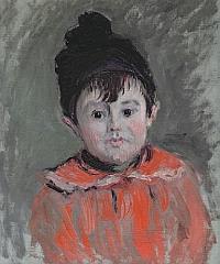 Claude Monet, Portrait de Michel Monet en bonnet à pompon, 1880 Huile sur toile, 46 x 38 cm – Musée Marmottan Monet, Paris – Inv. 5018