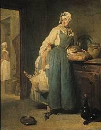 La Pourvoyeuse. Retour du Marché, 1739, Paris, Musée du Louvre