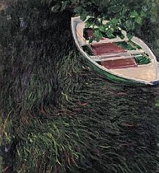 Claude Monet, La Barque, 1887 Huile sur toile, 146 x 133 cm – Musée Marmottan Monet, Paris – Inv. 5082