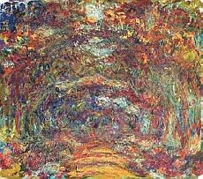Claude Monet, L'Allée des rosiers, Giverny, 1920-1922 – Huile sur toile, 89 x 100 cm – Musée Marmottan Monet, Paris – Inv. 5089