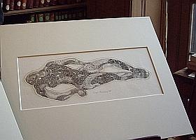 Gravure de Roger Vieillard (1907-1989), Cabinet d'estampes contemporaines de la Bibliothèque de l'Institut de France, 9 février 2011