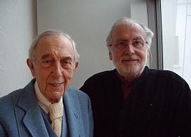 Le peintre Jean Cortot et l'historien d'art Pascal Bonafoux, (de gauche à droite), 27 janvier 2011, Canal Académie