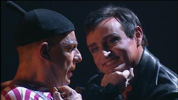 Sganarelle et Dom Juan dans la pièce Molière