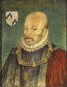 Portrait présumé le plus fidèle de Montaigne peint vers 1578 par Dumonstier, repris par Thomas de Leu pour orner l'édition des Essais de 1608. Ce portrait a été acquis par le duc d'Aumale en 1882, collection du musée Condé du château de Chantilly