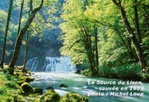 """Photo du site du Lison, parue dans la revue """"Sites et monuments"""""""